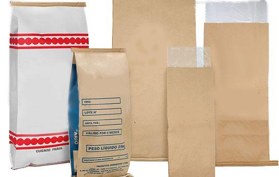 sacos de papel multifolhados